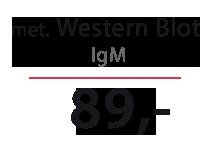 Cena testu na boreliozę met. Western Blot IgM